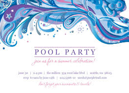 free printable invitation template for a pool party