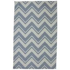 Bright Blue Rug Shop Mohawk Home Pool Zig Zag Blue Rectangular Outdoor Tufted Area