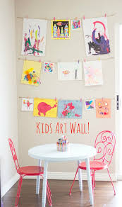 diy kids art displays kids art walls display kids art and art walls
