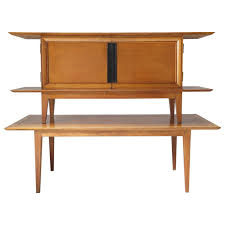 credenza table japanese inspired oak credenza and dining table by colette gueden