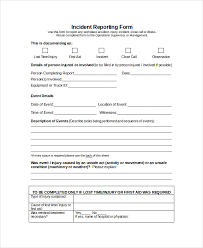 incident report form template word word report template 8 free word document downloads free