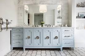 Blue Bathroom Vanity by Light Blue Bath Vanity With Ornate Doors Transitional Bathroom