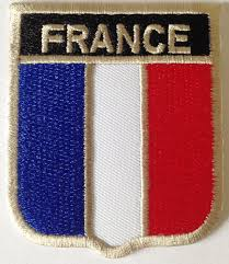 Flag Badges Embroidered Embroidered Iron On Sew On French Flag Applique France Patches