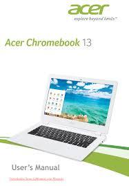 acer chromebook 13 cb5 311 user guide manual manualsheaven net