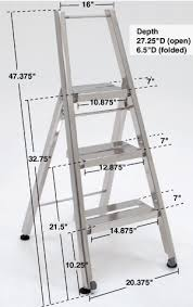 cleanroom heavy duty folding step ladder