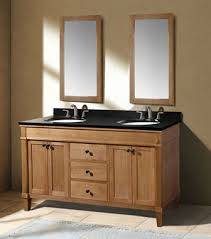 Bathroom Vanities Oak Classic 60 Inch Weathered Oak Bathroom Vanity With Black