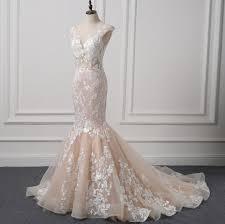 pink lace wedding dress aliexpress buy 2017 mermaid wedding dresses blush
