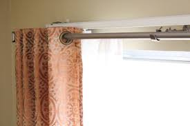 hanging curtain rods best 25 industrial curtain rod ideas on how to put curtain rod over blinds menzilperde net