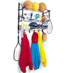 ball storage rack in sports equipment organizers