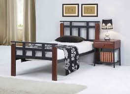 Timber Bedroom Furniture by Jacob Single Metal U0026 Timber Bed Online Furniture U0026 Bedding Store