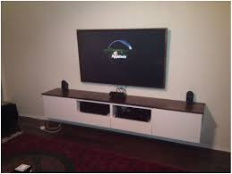 Wall Mounted Dvd Shelves by Under Tv Shelf For Dvd Player Rectangle Dark Brown Wooden Floating