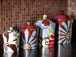 kitchen canisters ceramic sets gallery with wonderful glass
