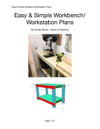 simple workbench plans diy workbench plans