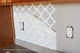 Kitchen Wallpaper Backsplash Kitchen Backsplash Vinyl Wallpaper Wiping Paste From M And Design