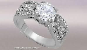 4 carat cubic zirconia engagement rings big is beautiful 4 carat engagement rings wedding and jewelry