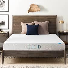 Latex Vs Memory Foam Sleepopolis Amazon Com Lucid 8 Inch Memory Foam Mattress Dual Layered