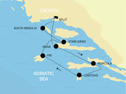 Adriatic Sea Map Yacht Charter Croatia Split Aci Marina Sail Croatia