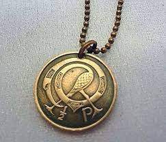 coin jewelry necklace images Irish coin necklace tiny celtic coin necklace jpg