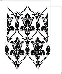 bbc home design tv show beautiful damask allover decorative stencil from tv series