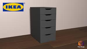 ikea alex desk drawer ikea drawer unit 3d model turbosquid 1203519