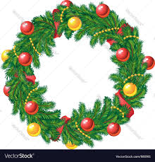 christmas wreath christmas wreath royalty free vector image vectorstock