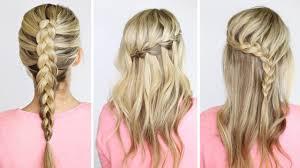 4 basic diy braids youtube