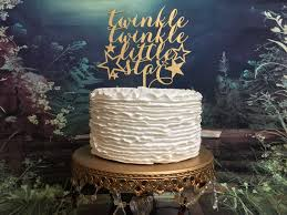 gender reveal cake topper twinkle twinkle cake topper baby shower cake topper