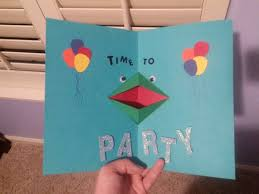 pop up birthday card party frog pop up birthday card by celidahd on deviantart