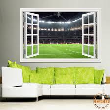 online shop 3d window wall stickers home decor football ball