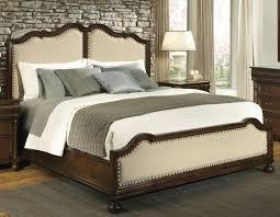 hekman vintage european antique upholstered king bed