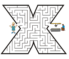 small letter coloring pages maze free coloring pages