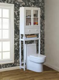 toilet cabinet white stained wooden frame ventilation window red