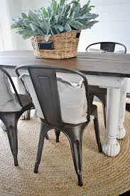 farmhouse table with metal chairs new rustic metal and wood dining chairs liz marie blog