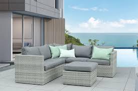 canapé de jardin en résine tressée salon en résine tressée zelie collection design marque au jardin de