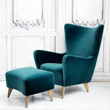 Cool Armchairs Elsa Wingback Chair And Footstool Chairs U0026 Armchairs Furniture