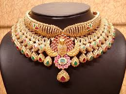 bridal choker necklace images Uncut diamond bridal choker south india jewels jpg