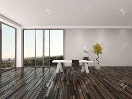 Home Office Interior Modern Home Office Interior Design With Two Office Chairs On