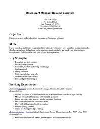 Restaurant Server Resume Template Restaurant Manager Sample Resume Examples Of Resumes Resume