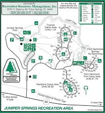 Wisconsin Campgrounds Map by Campground Map Juniper Springs Recreation Area