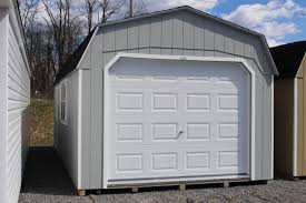 Light Grey Walls White Trim by Pine Creek 12x24 Dutch Garage Shed Sheds Barn Barns In Martinsburg
