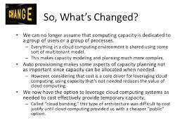 capacity management in a cloud computing world