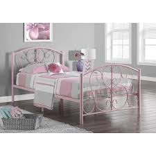 pink metal twin size bed frame free shipping today overstock
