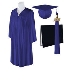 infant graduation cap and gown baby graduation cap gown small blue ebay