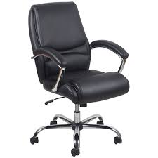 Leather Executive Desk Chair Ofm Ess 6070 Essentials Ergonomic High Back Leather Executive