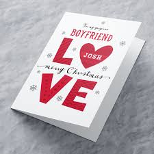 personalised christmas card boyfriend love from 99p