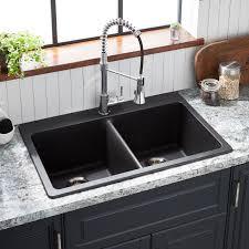kitchen sink with cabinet 33 totten bowl granite composite drop in kitchen sink black