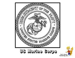 marine corp logo coloring pages to print coloring home
