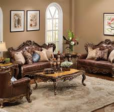 nora brown leather reclining 3 pc living room sofa set living