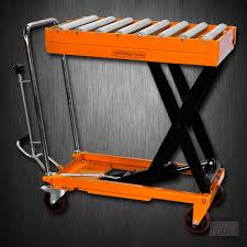 Pallet Lift Table by Hydraulic Scissor Roller Top Lift Table Cart 1100 Lb Tf50r