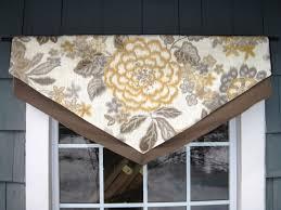 valance layered triangle window treatment in p kaufman u0027s